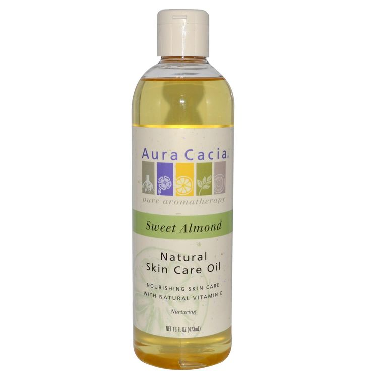 Aura Cacia, Natural Skin Care Oil, Sweet Almond, 16 fl oz (473 ml) - iHerb.com