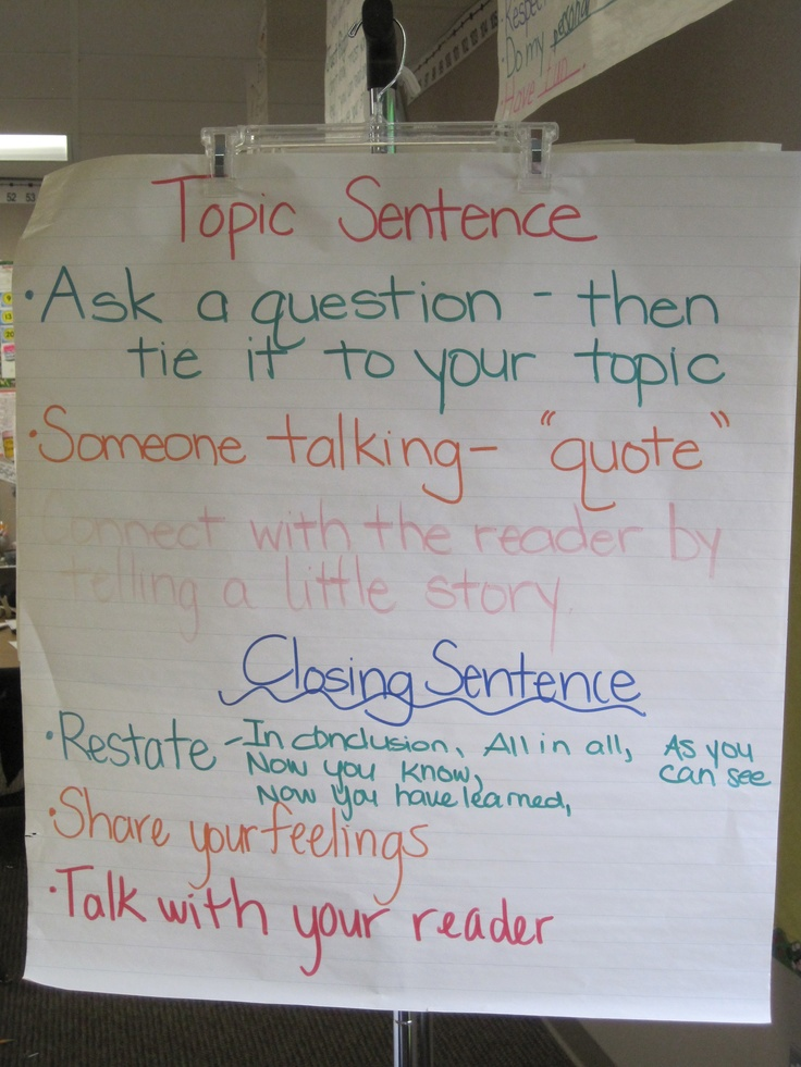 Examples of Topic Sentences