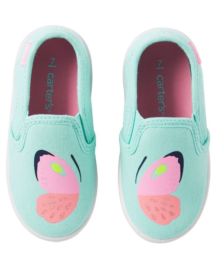 Baby Girl Carter's Butterfly Slip-On Shoes   Carters.com