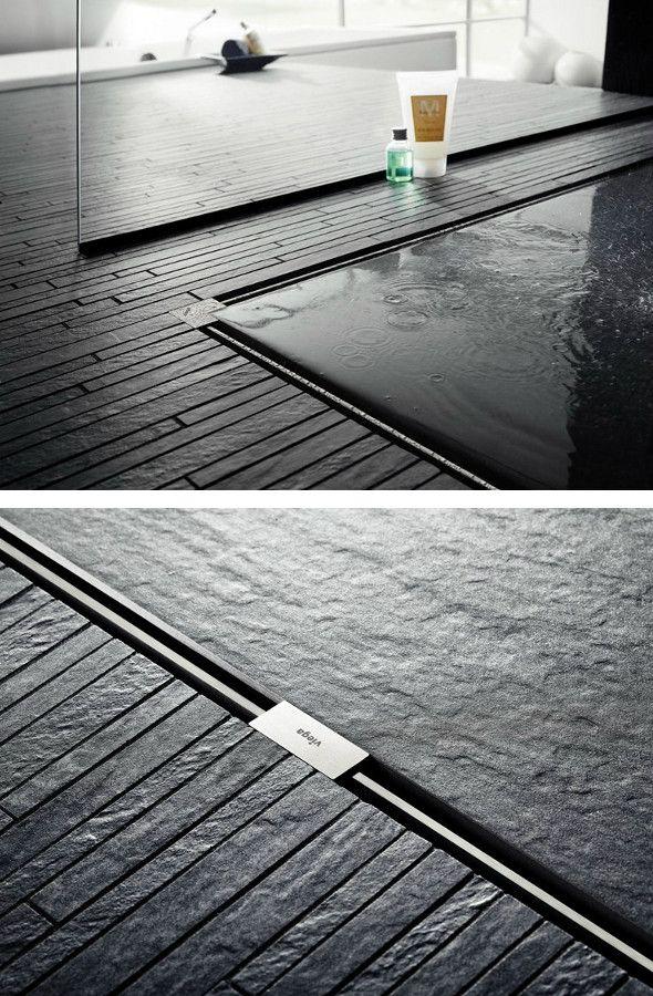 Stainless steel #shower channel ADVANTIX VARIO by Viega Italia | #design ARTEFAKT industriekultur