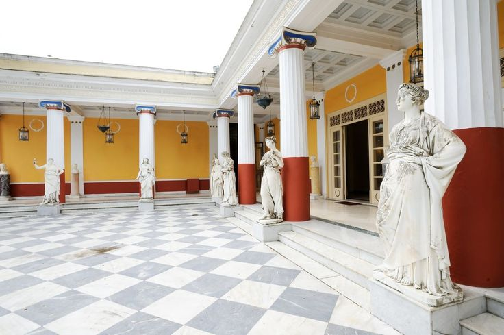 Achilleio - a palace built in Corfu by Empress Elizabeth of Austria in honor of the Homeric hero, and one of the major attractions of the island. https://greece.terrabook.com/corfu/page/achillion #Greece #Corfu #GreekIslands #TravelTips #Travel #GreeceTravel #GreekPhotos #Traveling #Travelling #Holiday #Summer