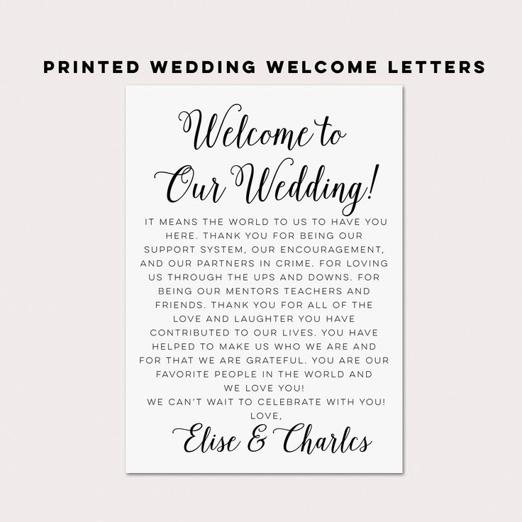 Letters,Wedding Itineraries,Wedding Welcome Bag,OOT Bag Card,Wedding ...