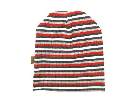 Toddler Beanie, Slouchy Beanie, Kid's Beanie, Boy's Beanie, Children's Clothing, Striped Beanie, Baby Beanie, Infant Hat, Ready to Ship