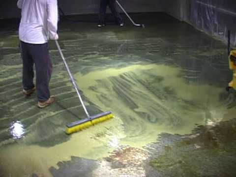 The best video to learn how to acid stain a floor -Lots more information, products and local contractors at   http://www.concreteideas.com