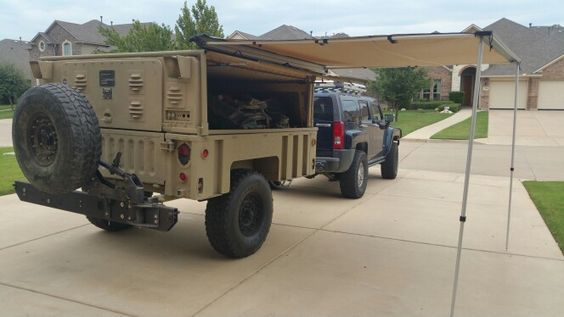 Simple Military Trailer M101A2 With Camper Shell Commando Green
