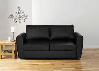 The Siena Leather Sofa Bed From Argos