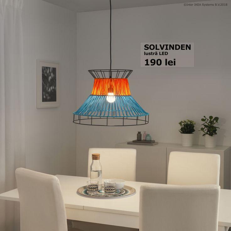 Lustra LED SOLVINDEN este ușor de montat și arată bine oriunde decizi să o montezi. În plus, aduce un aspect nou casei tale.