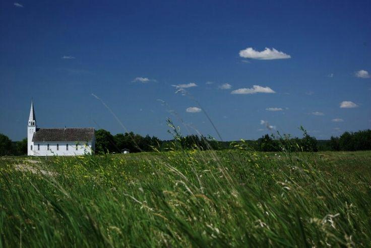 Church at Batoche, SK. The site of the historic Battle of Batoche