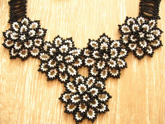 Beaded crochet necklace Flower flowers rose earrings Wedding bridal Jewelry sets 3D beadwork Women fashion Collar choker Seed bead lace work