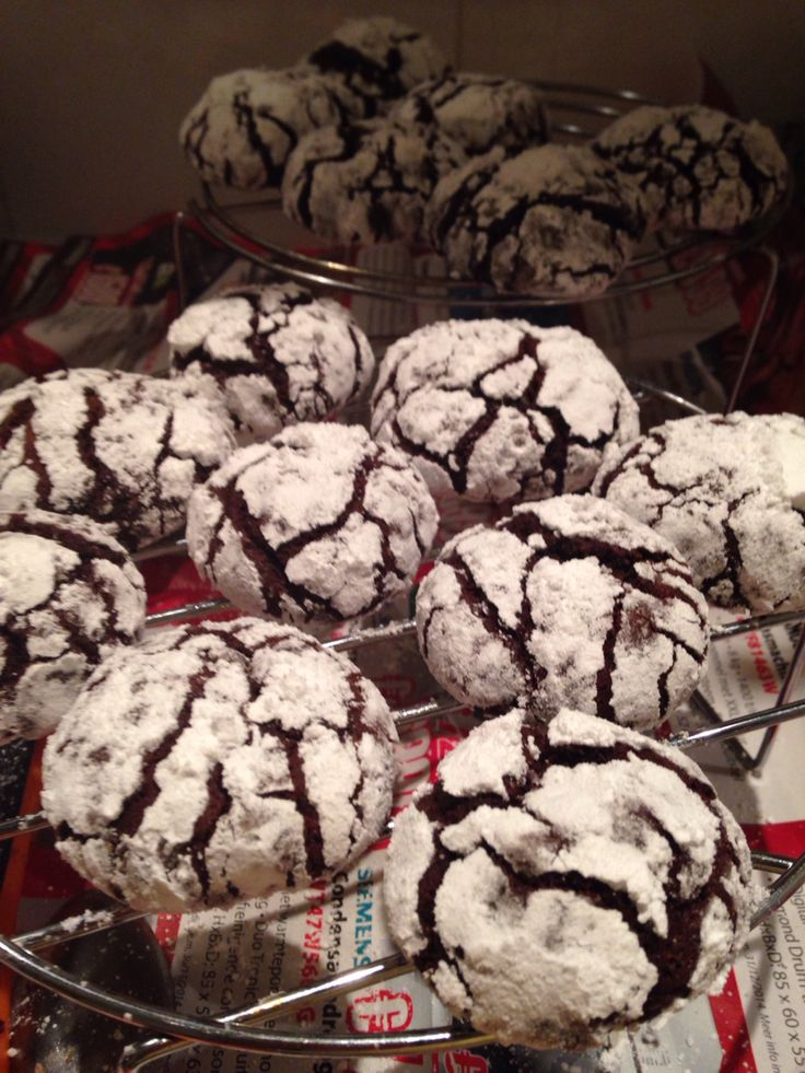 Best chocolate crinkles i've made...