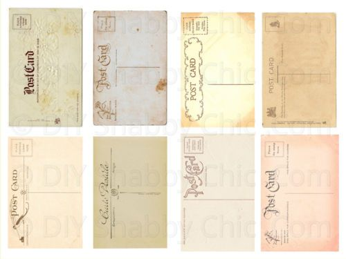 FURNITURE-CRAFT-WATER-SLIDE-DECAL-SHABBY-CHIC-FRENCH-TRANSFER-VINTAGE-POST-CARDS