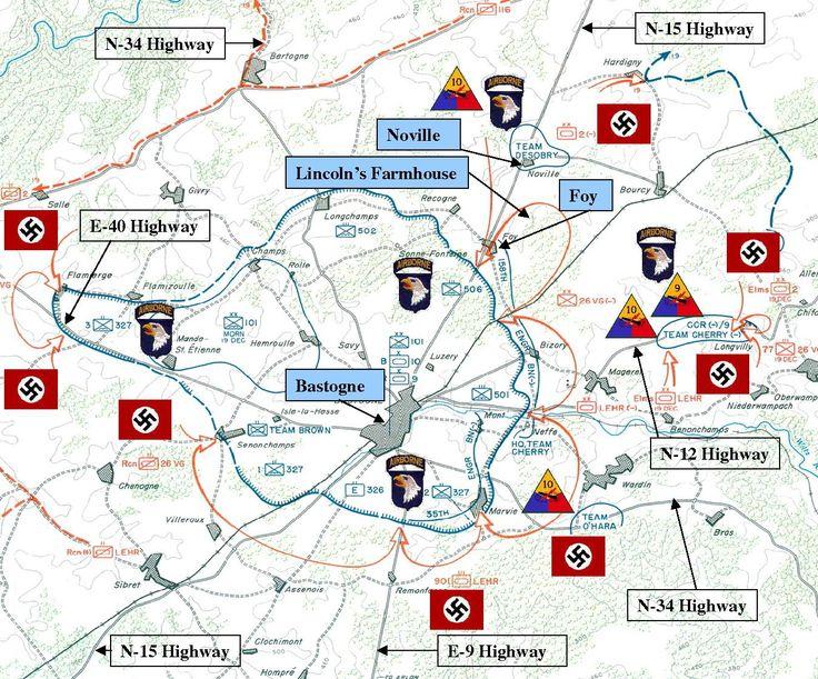 111 best world war ii maps images on pinterest world war two wwii bastogne map gumiabroncs Gallery