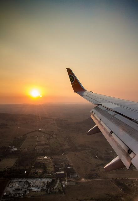 Sun setting over Gauteng by Axel Bührmann, via Flickr