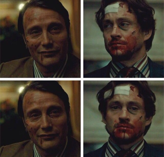 Hannibal is so proud of Will in this moment. XD