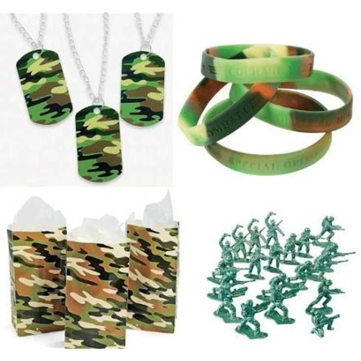 Military Kitchen & Dining Features Army Party Favors Boy's Camouflage Bracelets #Doesnotapply