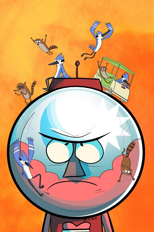 Regular Show BENSON LOVE HATE RELATIONSHIP WITH MORDECAI AND RIGBY LOL