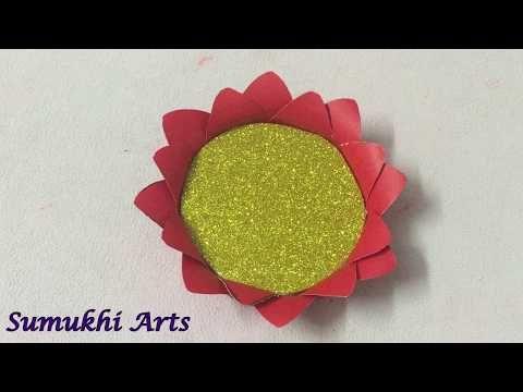Ganpati lotus flower decoration/Ganpati decoration ideas/Ganesh festival last minute decoration - YouTube