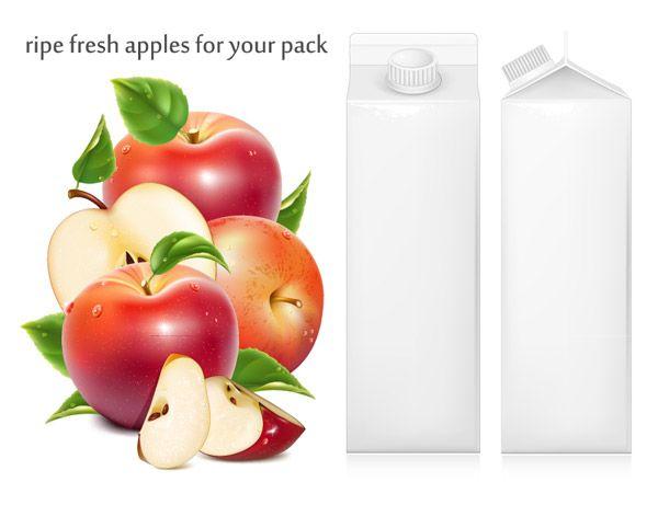 苹果与果汁包装