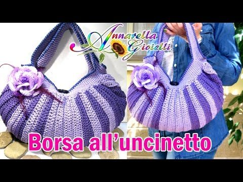 Tutorial borsa all'uncinetto. | How to crochet a bag