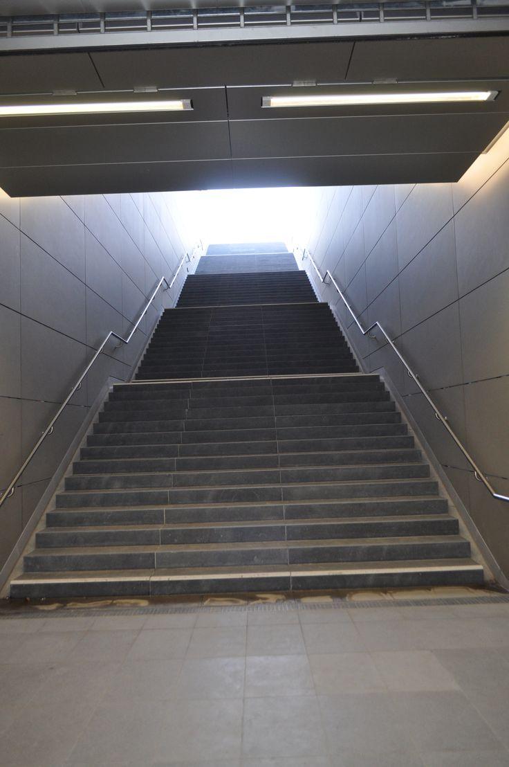 Treppe in der U-Bahn Station Hafen City Universität, Foto by http://www.christian-rasch.de/
