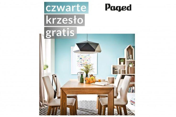 Tylko do 23 marca przy zakupie stołu i minimum czterech krzeseł firmy Paged, czwarte krzesło gratis. Zapraszamy :) http://www.mega-meble.pl/promocja-300