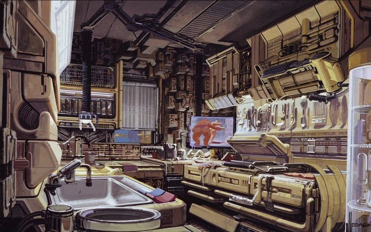 Syd Mead concept art from the Blade Runner 30th ...