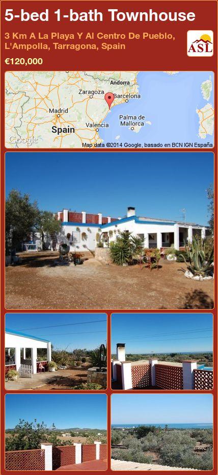 5-bed 1-bath Townhouse in 3 Km A La Playa Y Al Centro De Pueblo, L'Ampolla, Tarragona, Spain ►€120,000 #PropertyForSaleInSpain