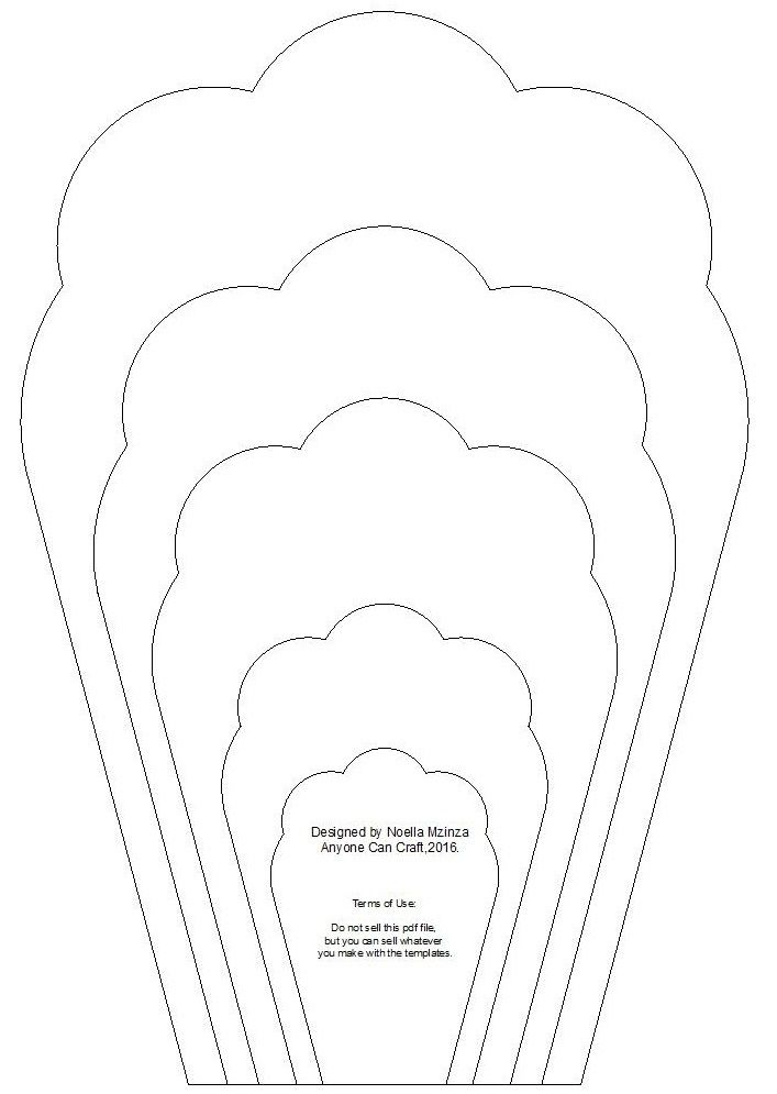 Large Flower Petals Anyone Can Craft In 3d Flower Template Printable20047 Paper Flower Printable Templates Flower Templates Printable Flower Petal Template