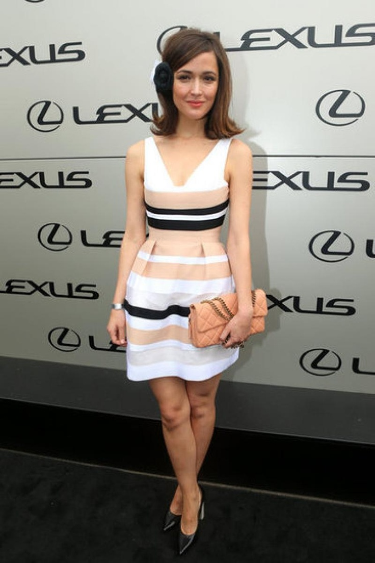 Rose Byrne in a custom made piece from the new A/W Collection at the 2012 Melbourne Cup.