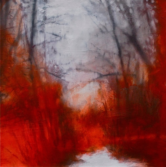 Anders Moseholm, Red Natural Invention, 2011, oil on canvas, 29.5 x 29.5 inches (75 x 75 cm)