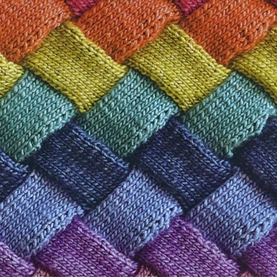 Puffy Mondaes™ - Entrelac Knitting Class with Ruth Burdeshaw, $40