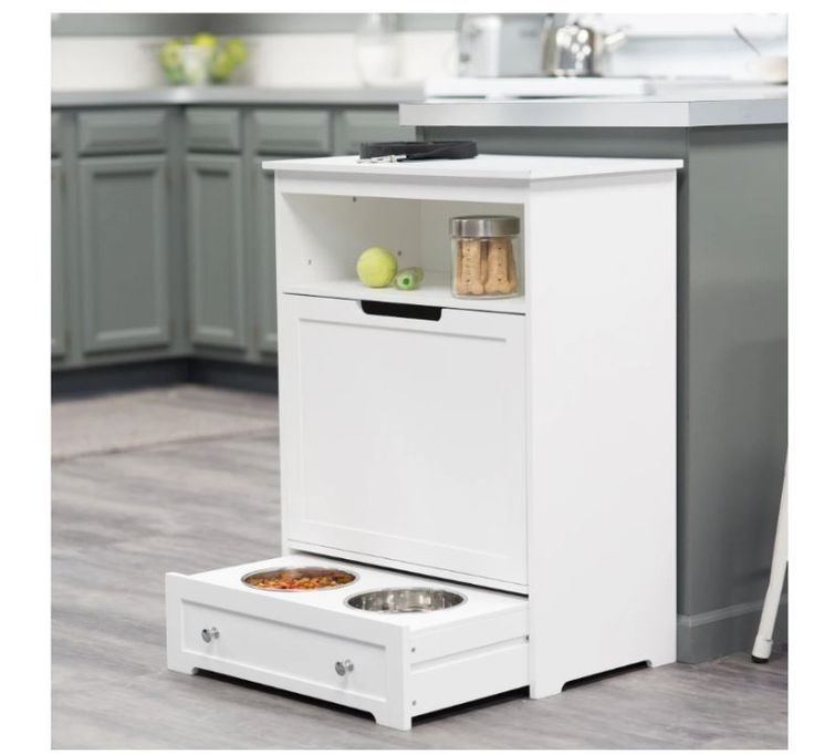 Pet Food Cabinet with Bowls Storage Feeding Station Cat Dog Supplies Floor Dish | Pet Supplies, Dog Supplies, Dishes, Feeders & Fountains | eBay!