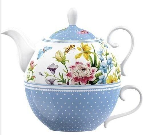 Set ceai (ceainic cu cana) - English Garden- Tea For One Porcelain
