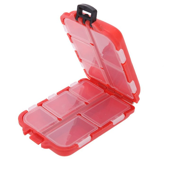 KevenAnna NEW Portable 10 Compartments Fly Fishing Box for Fishing Lure Hooks Swivel Beads Carp Fishing Tackle Box >>> Continue to the product at the image link.