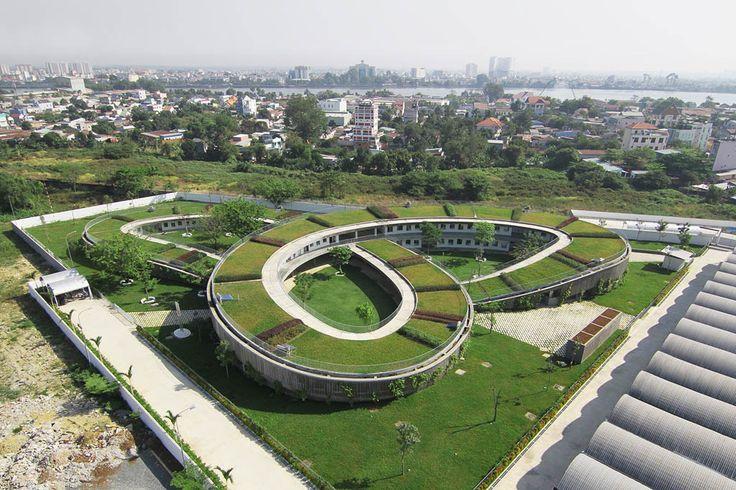 Vo Trong Nghia Architects. Farming Kindergarten.Dongnai. Vietnam. photos:Hiroyuki Oki
