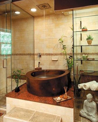 New Products - Diamond Spas - Copper Japanese bath | Interior Design