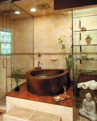 New Products - Diamond Spas - Copper Japanese bath | Interior Design