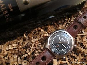 NEW DCVW AUCTION: All-Original 1977 Seiko 6139-8041 Automatic Chronograph, w/Leather Rally Strap