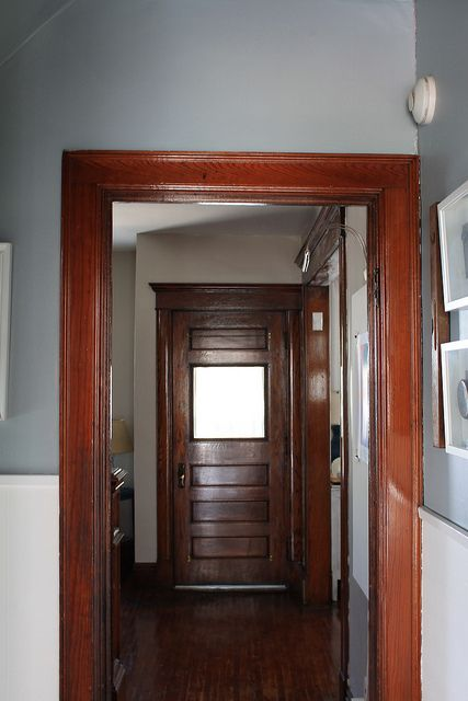 17 best images about wood trim paint colors on pinterest for Wood doors painted trim