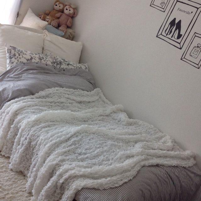 Tyさんの、ベッド周り,IKEA,一人暮らし,布団カバー,のお部屋写真