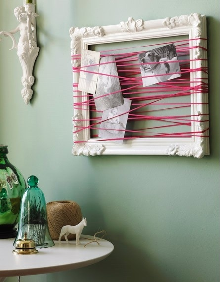 Picture frame idea. Very awesome!