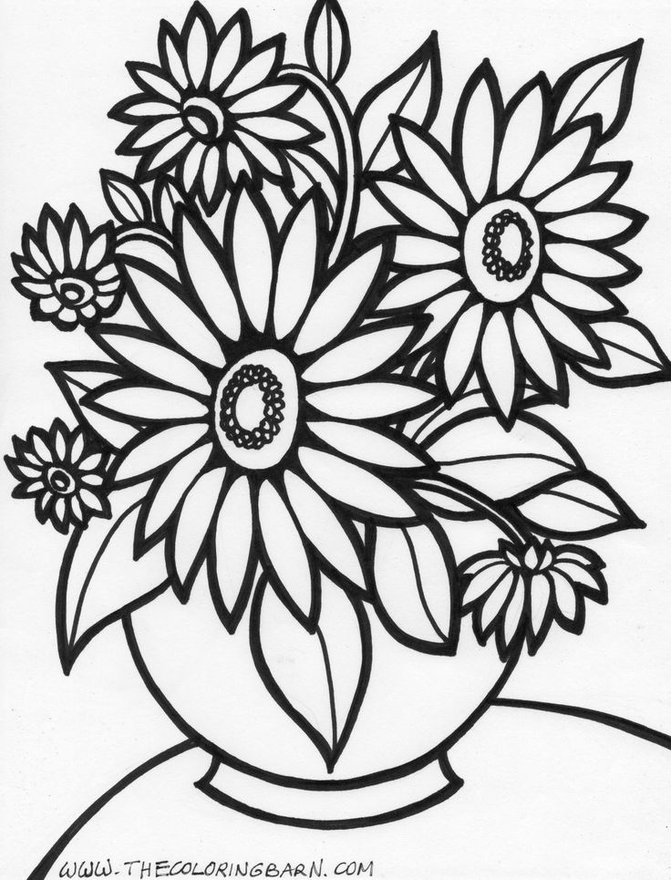 Here You Will Find 20 Flower Coloring Pages Fun Filled