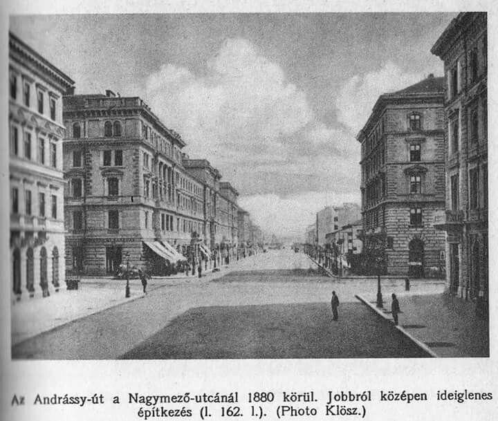 1880 Andrássy út a Nagymező utcánál