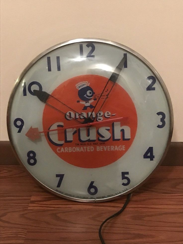 Rare orange crush vintage crushy clock telechron