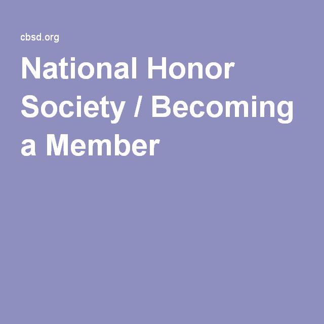 National Honor Society / Becoming a Member