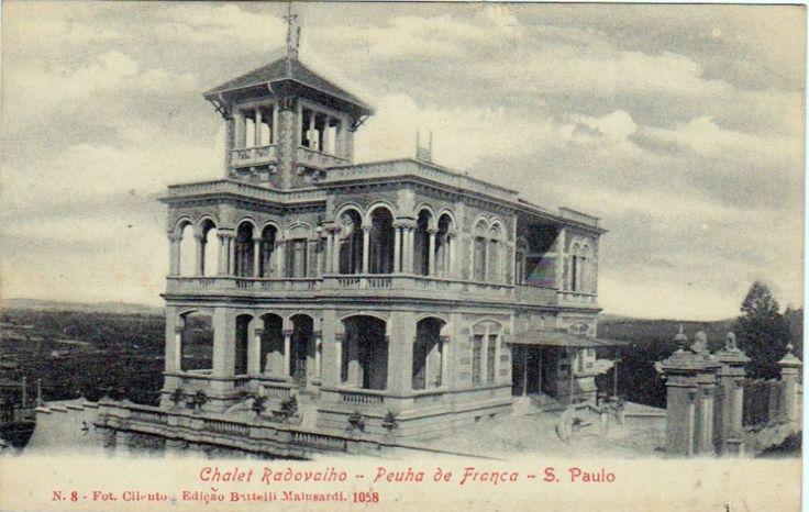1910 - Palacete Rodovalho - Penha de França - Foto Cilento - Editor Batelli Marlusardi - DCP