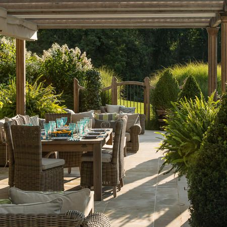 Upper Pool Planting And View   providence landscapes