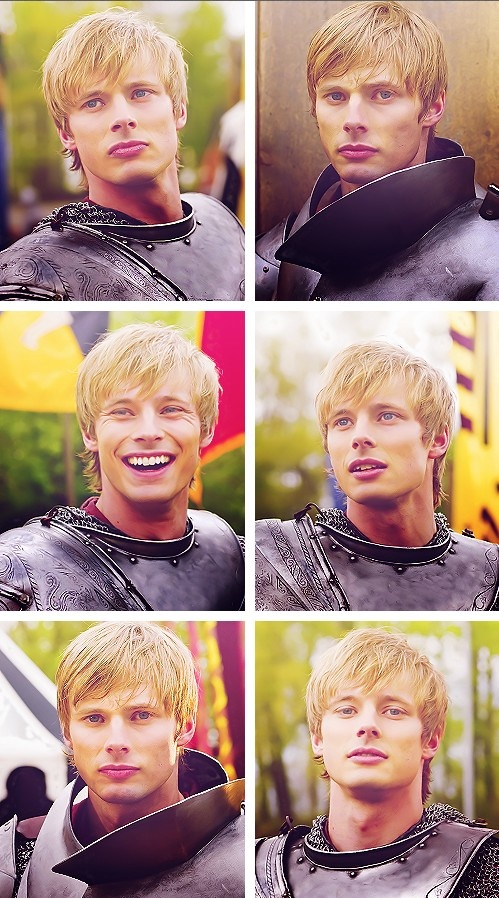 Bradley James as King Arthur - Swoon!