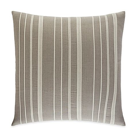 Create a serene ambiance in your bedroom with the ED Ellen DeGeneres Mosaic Tile European Pillow Sham. Reminiscent of Ellen's cool and casual style, the inviting pillow sham boasts darker linen coloring with appliqued cotton twill tape stripes.