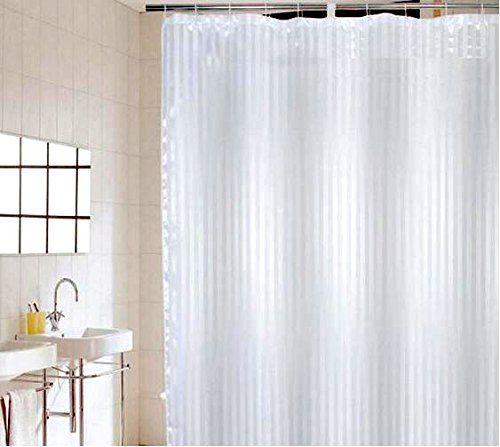 C2b Shower Curtain 180cmx180cm  Satin Stripe   Anti Mildew, Weighted Hem,  Anti Rust Eyelets, 12 Plastic Hooks Included.   Hotel Quality